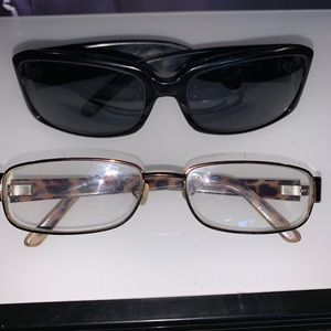2for1 Vintage YSL sunglasses and eyeglasses